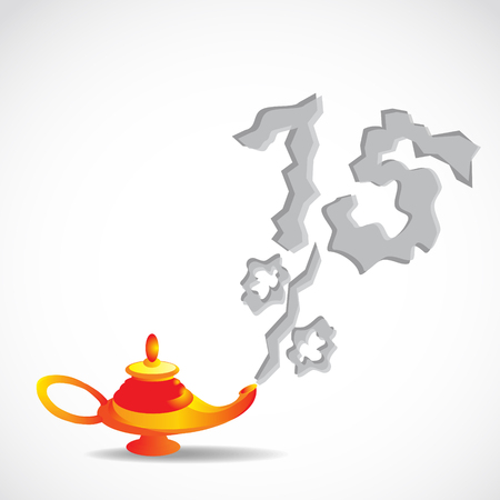 magic lamp discounted fifteen percent of the smoke Illustration