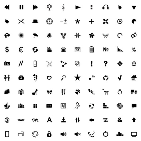 love of money: Set of icons for use in Internet resources Illustration