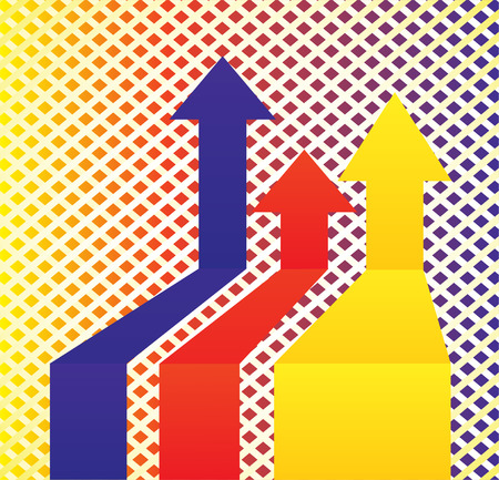 basic figure: Abstract background and colorful arrows