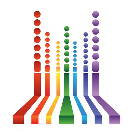 抽象的な背景。虹色のストライプ