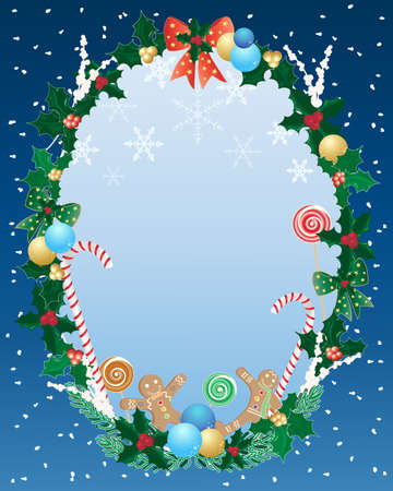an illustration of a decorative christmas border Vector