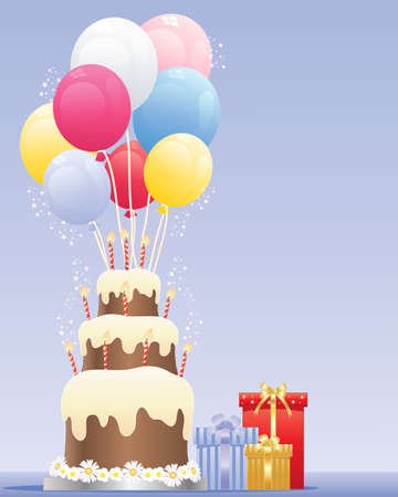 an illustration of a birthday cake Stock Vector - 15411668