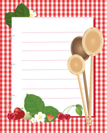 writing utensil: an illustration of a kitchen note book Illustration