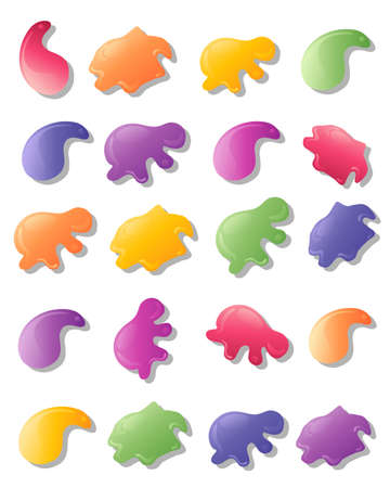 an illustration of different jelly shapes in rainbow colors isolated on a white background Stock Vector - 16244325