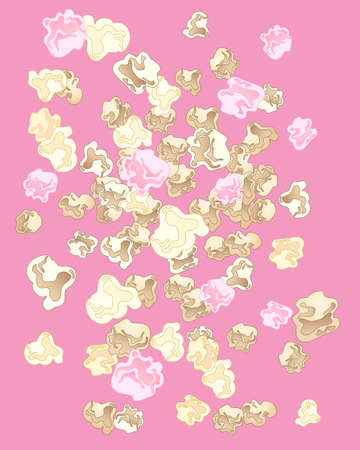 fairground: an illustration of a delicious popcorn background image on a pink background