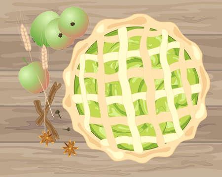 Home baked pie icon. Çizim