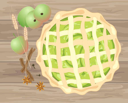Home baked pie icon. Illustration