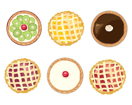 Assorted home baked tarts icon.
