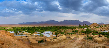 oasis: Village in the oasis, Iran