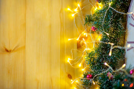 bright sparks and Christmas decorations, Christmas background