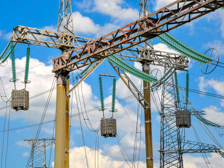 isolator insulator: Equipment of high-voltage electric substation