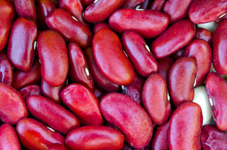 Red beans close up, healthy food