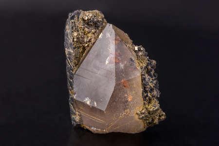 Mineral rock crystal, kind of colourless quartz Reklamní fotografie