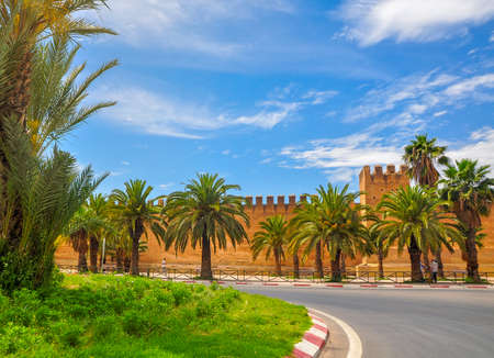 fortifications surrounding an old part of the city in Morocco Standard-Bild
