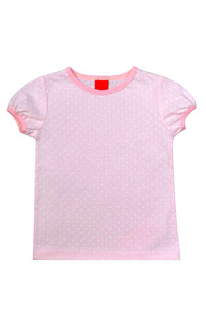beautiful a summer undershirt for girls of school age, gently pink color