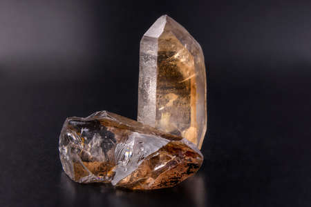 Mineral rock crystal, kind of colourless quartz Stock Photo