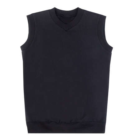vest of black color isolated on white background