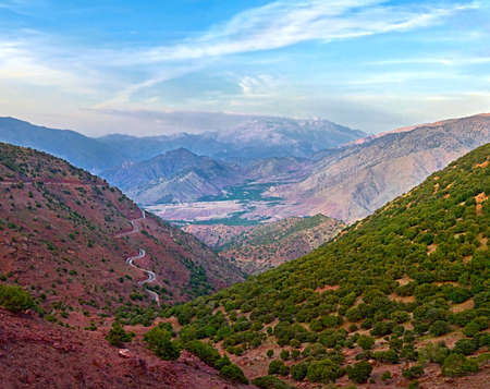 gorge in the mountains of Atlas, Morocco Stock Photo