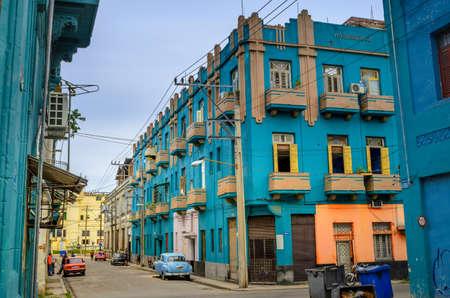 Historical quarters of the Cuban capital Havanna