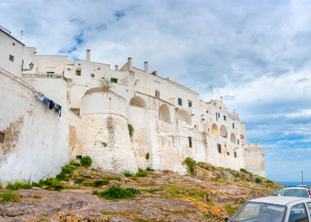 Panorama of the medieval town of Ostuni. Italy. Europe Stock Photo