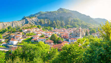 small resort village in Greece in the mountains of central Greece, Zagori, Europe 版權商用圖片