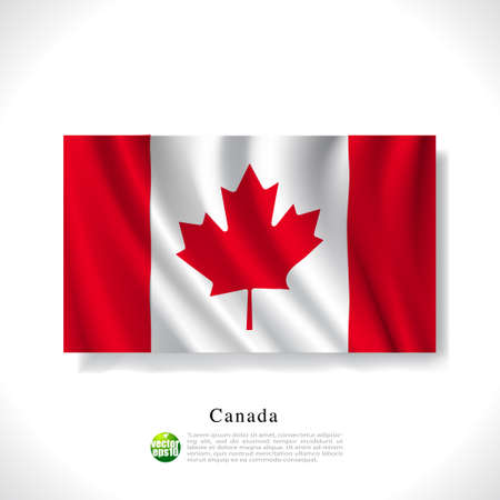canadian flag: Canada waving flag isolated against white background, vector illustration  Illustration