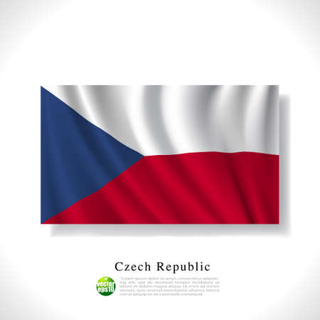 Czech waving flag isolated against white background, vector illustration  Vector