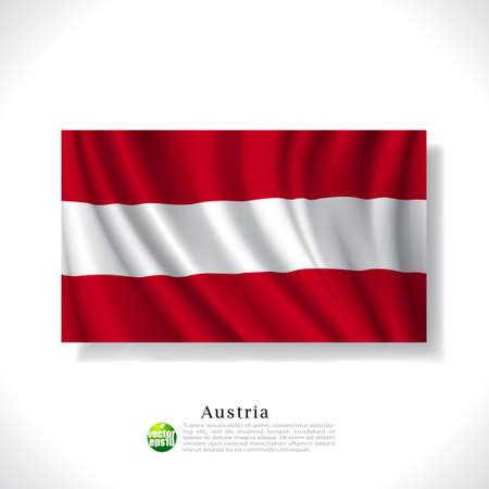 Austria waving flag isolated against white background, vector illustration  Vector