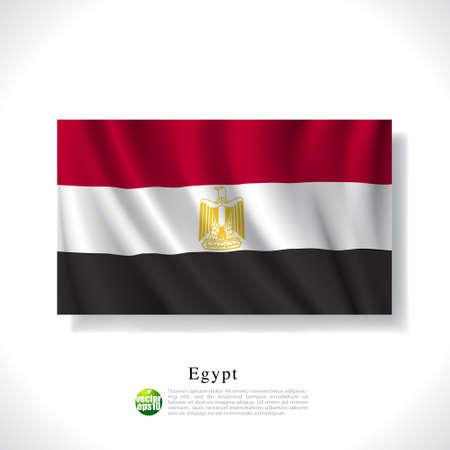 alexandria egypt: Egypt waving flag isolated against white background, vector illustration