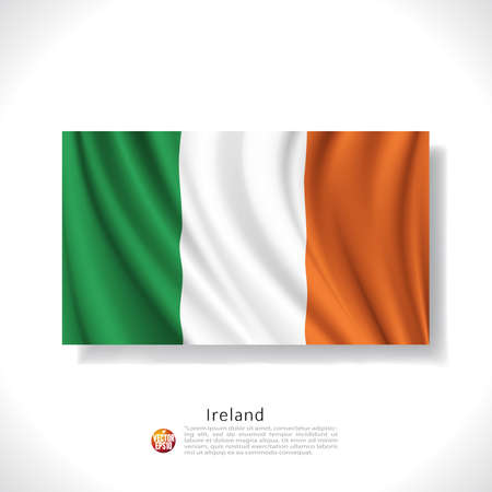 Ireland waving flag isolated against white background, vector illustration  Vector