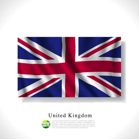 queens jubilee: United Kingdom waving flag isolated against white background, vector illustration  Illustration