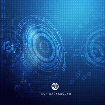 Technology digital background, Vector illustration