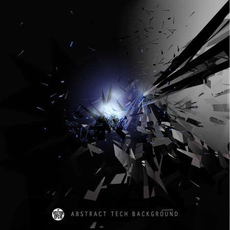 Explosion in space Background Vector illustration Иллюстрация