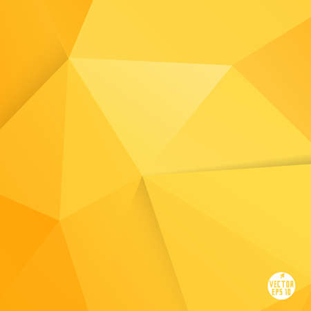 Abstract modern orange polygon background, vector illustration