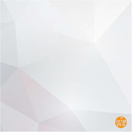 Modern white polygon background, vector illustration  Иллюстрация