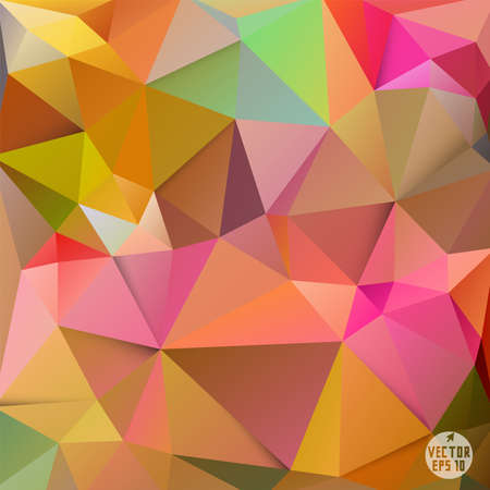 Colorful polygon background, vector illustration  Иллюстрация