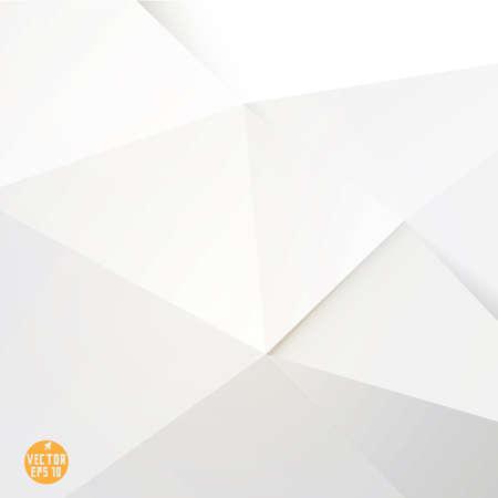 sur fond blanc: Modern fond de polygone blanc, illustration vectorielle
