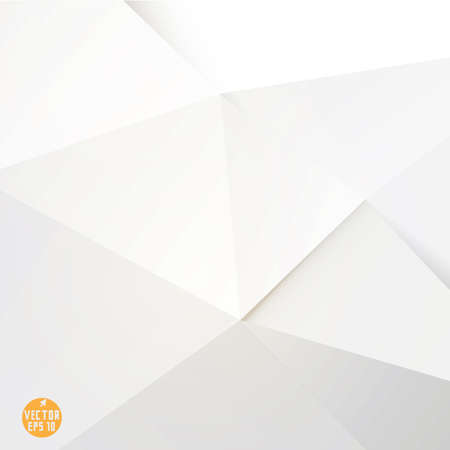 Modern white polygon background, vector illustration  Ilustração