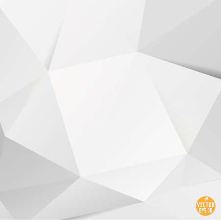 Modern white polygon background, vector illustration  Vettoriali
