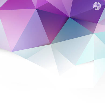 Modern purple polygon background and space for your text, vector illustration  Ilustração