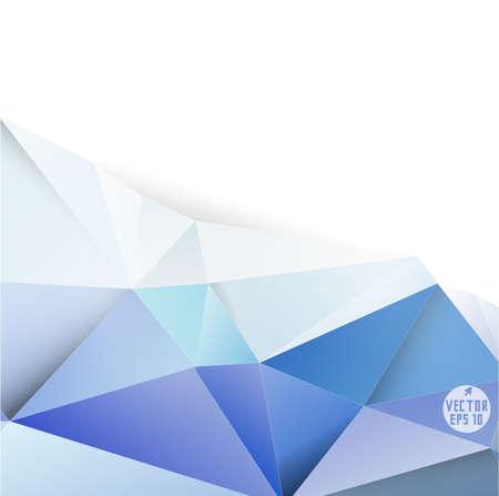 텍스트, 벡터 일러스트 레이 션을위한 현대 블루 다각형의 배경과 공간