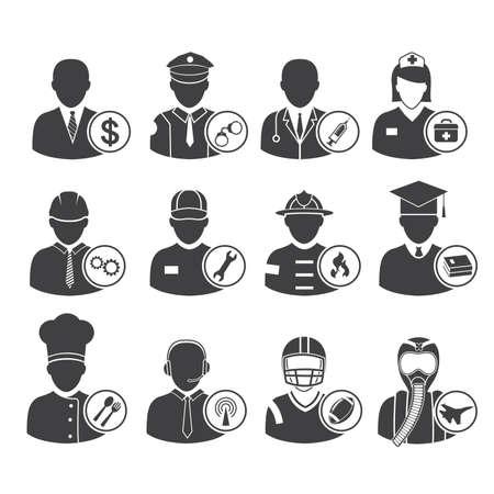 Occupation icons set, vector illustration Фото со стока - 26533057