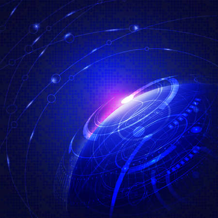 electric blue: Abstract global technology digital background, Vector   illustration