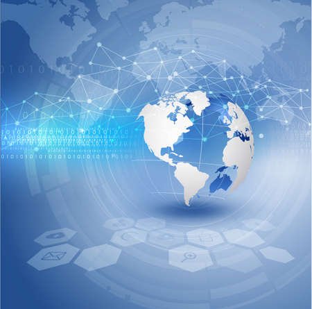 World and technology futuristic background, vector illustrator 일러스트