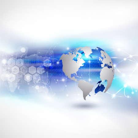 World network communication and technology background, vector illustration Фото со стока - 27198600