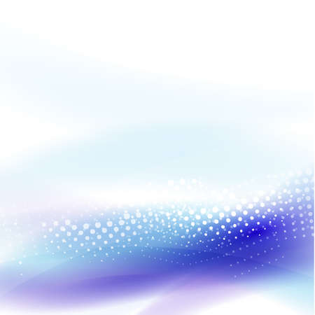 wave vector: Abstract blue flowing wave and dot pattern background for business or technology, vector illustration