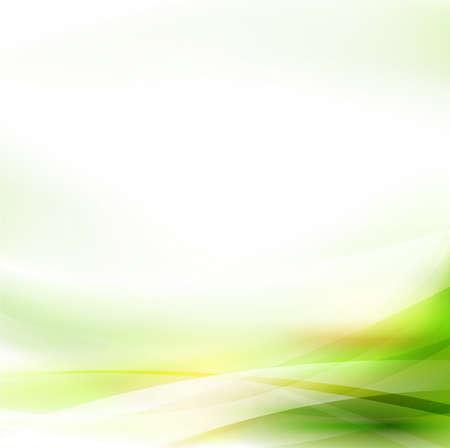 Gładki przepływ streszczenie zielone tło, ilustracji wektorowych