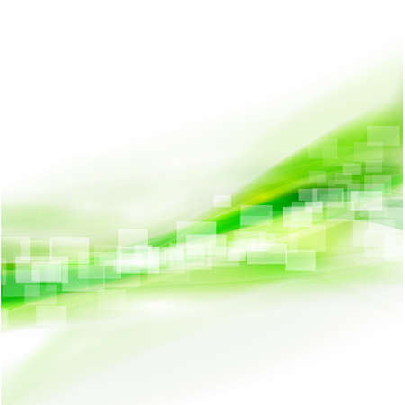 Abstract smooth green flow background, Vector illustration  Иллюстрация