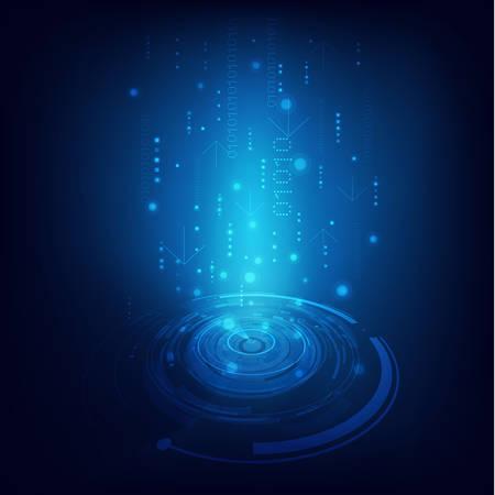 technology background: Technology futuristic digital background, Vector illustration Illustration