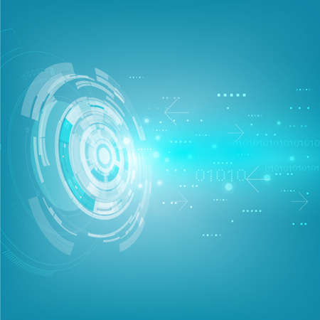 Technology futuristic digital background, Vector illustration Illustration